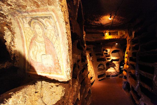 Risultati immagini per catacombe santa savinilla nepi